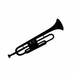 trumpet dark silhouette vector image