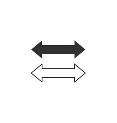 Two side arrow icon stock isolated on white vector