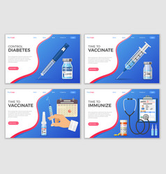 vaccination landing page template vector image
