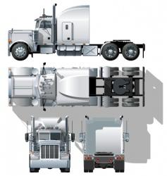 vector semi truck vector image