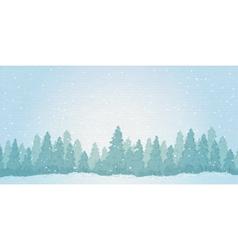 Vintage winter noontime forest landscape vector image