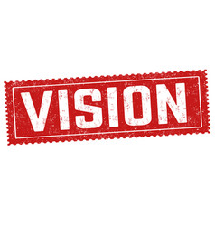 vision sign or stamp vector image