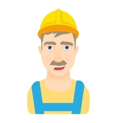 Worker icon cartoon style vector