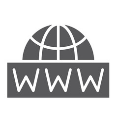World wide net glyph icon communication network vector