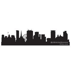 birmingham england skyline detailed silhouette vector image