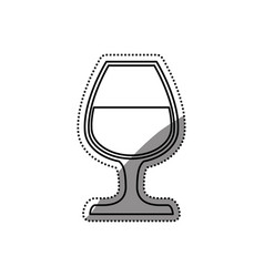 delicious cup of wine vector image vector image