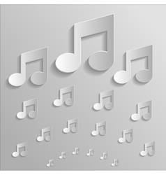 Icon music vector image