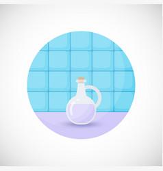 Lavender oil flat icon vector