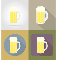objects for food flat icons 16 vector image
