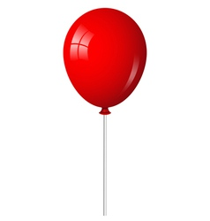 red balloon on stick vector image