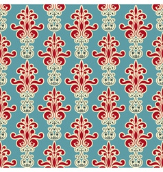 seamless floral wallpaper pattern vector image