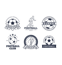 set of football club graphic icons flat design vector image