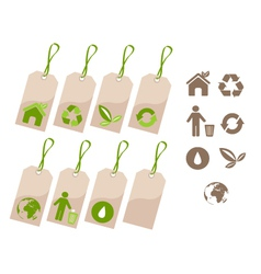 ecology tags and icons vector image