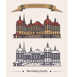 Moritzburg germany castle in saxony exterior vector