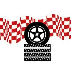 Tire design vector