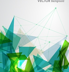 Green and blue network geometric transparency vector image vector image