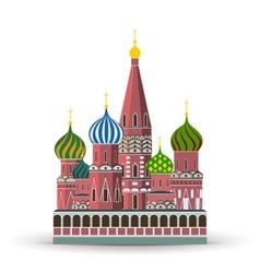 Kremlin St Basil Cathedral vector image