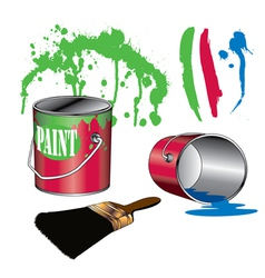 Painting Supplies vector image vector image