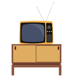 Retro tv and furniture vector image vector image