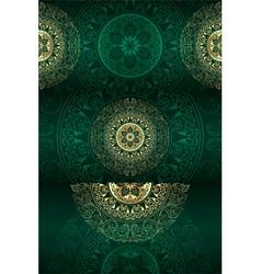 Set of green vintage floral backgrounds vector image vector image