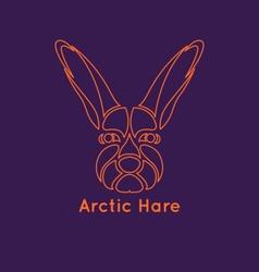 Arctic Hare Icon vector image vector image