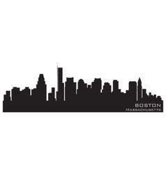 boston massachusetts skyline detailed silhouette vector image vector image