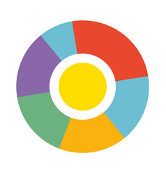 Bright round diagram with colorful sections vector