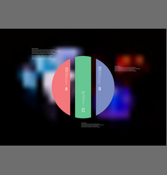 infographic template with circle vertically vector image vector image