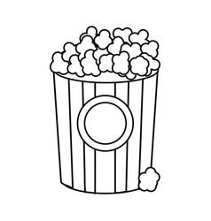 line popcorn food in the cinema movie eat vector image vector image