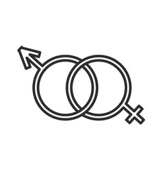 male and female genders line icon sign vector image vector image