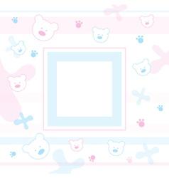 Teddy bears Frame vector image