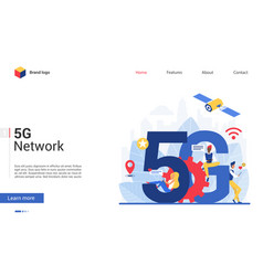5g network concept cartoon vector image