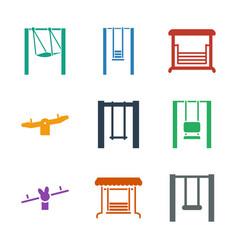 9 swinging icons vector