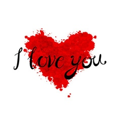 A heart made of I love you phrase in many vector image