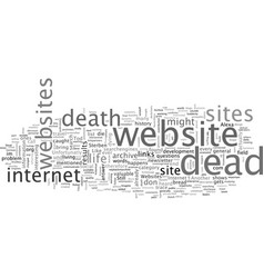 About dead websites vector