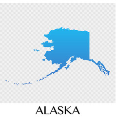 alaska map in north america continent design vector image