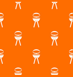 barbecue grill pattern seamless vector image