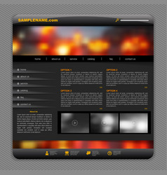 Black template design with night city lights vector