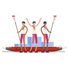 Canoeist symbol canoeing icon vector