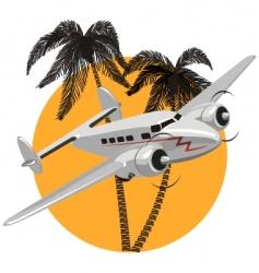 Cartoon retro airplane vector