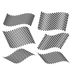 checkered racing flags or planes with checkers vector image