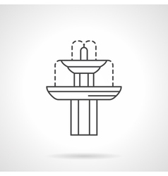 Classic fountain flat line icon vector image