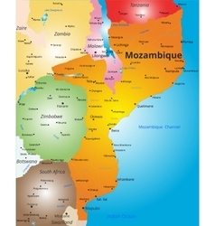 color map of Mozambique country vector image