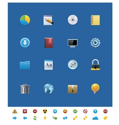 common website icons for webmasters vector image