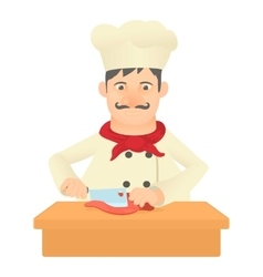 Cook icon cartoon style vector image