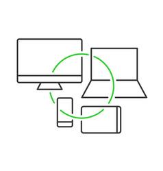 Cross platform devices concept vector