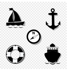 cruise icons collection for graphic design vector image