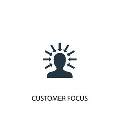 Customer focus icon simple element vector