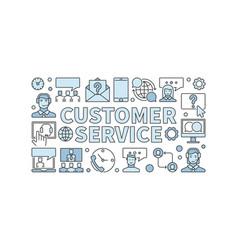 customer service modern horizontal banner vector image