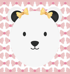 Cute female polar bear childish character vector